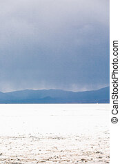 Bonneville Salt Flats - Summer evening at Bonneville Salt...