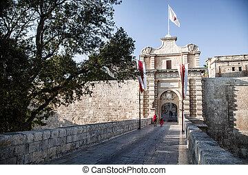 Historical town Mdina, Malta - MDINA, MALTA - JULY 17:...