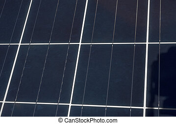 Solar Panel Up Close - An upclose view of the grids and...