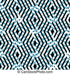 Abstract creative textured pattern - Blue rhythmic textured...