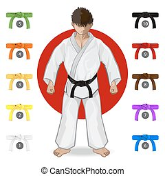KARATE Martial Art Belt Rank System - An Illustration Of...