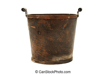 flowerpot - isolated retro flowerpot on a white background