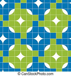 Mosaic tiles seamless pattern, vector background
