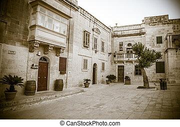 Square at Mdina, Malta
