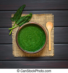 Cream of Spinach Soup - Fresh homemade cream of spinach soup...