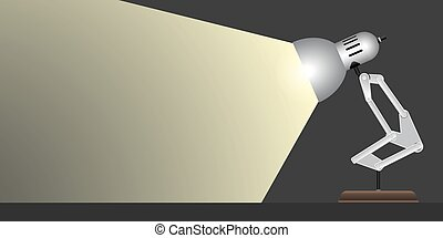 Silver table lamp light Vector