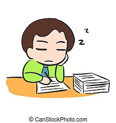 Businessman Sleep with low battery, VECTOR Stock EPS10