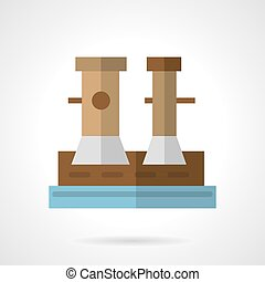 Flat vector icon for marine bollard - Flat color design...