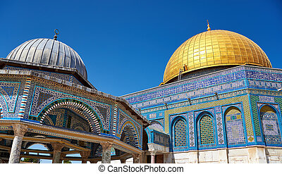 Dome of the Rock mosque in Jerusalem - Dome of the Rock. The...