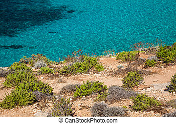 Blue sea at Comino island - Malta