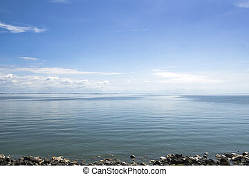 IJsselmeer - View on the Dutch IJsselmeer from the...
