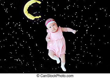 Beautiful small girl - Beautiful small kid girl in pink...