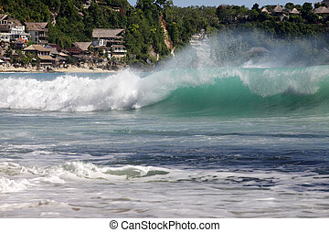 Beautiful balinese Dreamland beach - Most popular surfing...