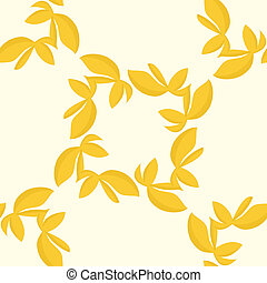 Golden Seamless Leaves Pattern - Tile pattern of golden...
