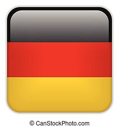 Germany Flag Smartphone Application Square Buttons