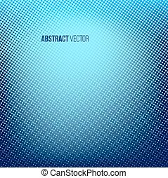 Blue abstract halftone background. Creative vector...