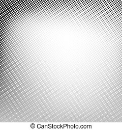 Abstract spotted halftone background Vector black white gray...
