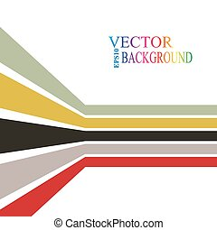 Colorful stripes with 3 d dimensional effect isolated on white.
