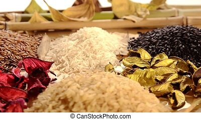 various kinds of rice - composition of various rices