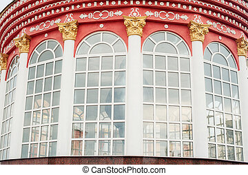 Architecture and windows of ancient renaissance style...