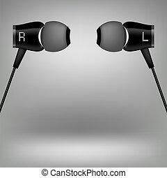 Grey Headphones