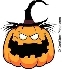 Cartoon Pumpkin Witch Evil