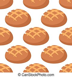 Cripsy wheat bread seamless pattern