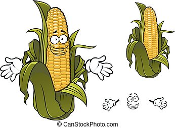 Cartoon sweet corn or maize vegetable - Sweet corn or maize...