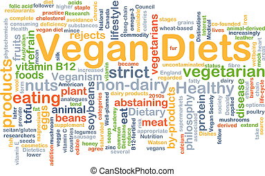 Vegan diet background concept - Background concept wordcloud...
