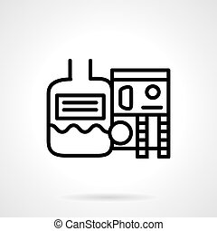 Industrial water treatment Vector icon - Flat line vector...