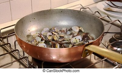 seafood, clams - italian food, clams