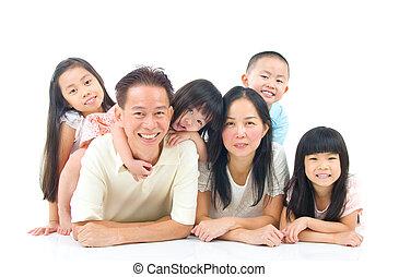 asian family - Portrait of asian family
