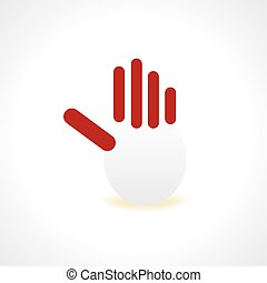 creative hand vector illustration