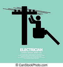 Electrician Black Sign.