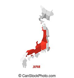 Map of Japan. - Map of Japan Vector Illustration.