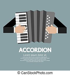 Accordion. - Vintage Musical Instrument Accordion Vector...