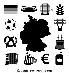 Germany Icons Set - Germany Icons Set Vector Illustration