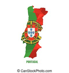 Map of Portugal.