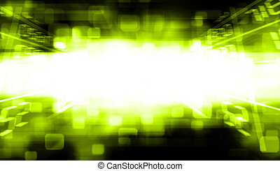 Green Blurred abstract background.