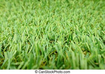 Closeup of Artificial Grass Field