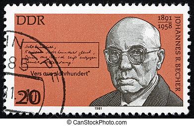 Postage stamp Germany 1981 Johannes Robert Becher, Poet -...
