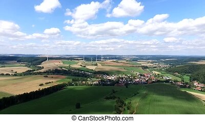 flight over germany - landscape