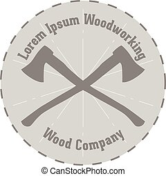 Vector Lavel of woodworking Company - Simple vector Design...