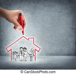 realization of your house - aid to the family