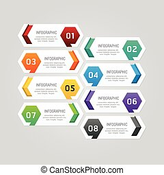 Infographics design geometric template banner. vector...