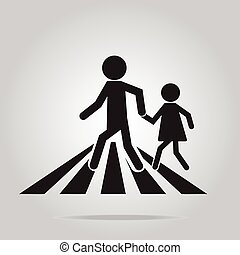 10xpedestrian crossing sign