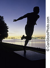 Statue- Vancouver, Canada - Statue of athlete of the...