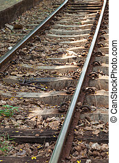 Railroad - railway has a secondary timber and cement tracks...