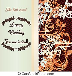 Wedding invitation soft and tender