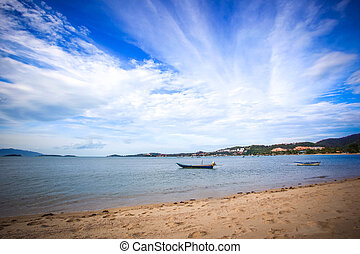 boats on the beach in Koh Samui Thailand - boats on the...